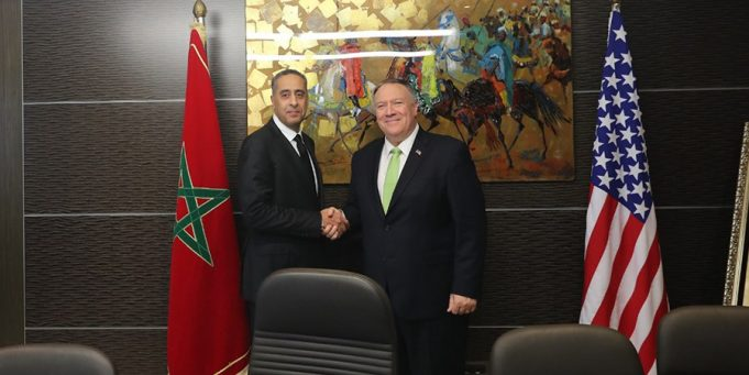 Head of Morocco's DGSN-DGST Holds Security Talk with Pompeo