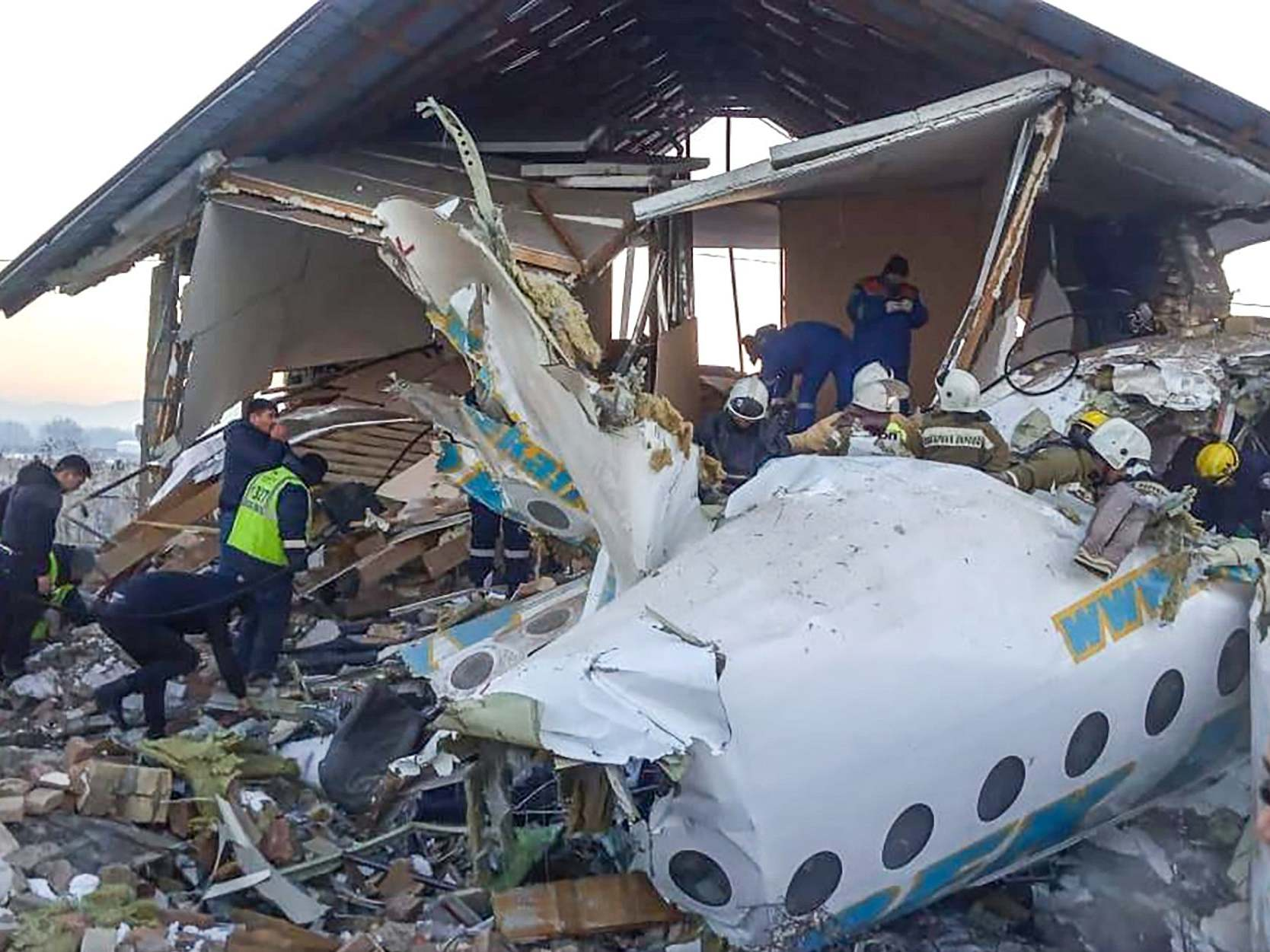Kazakh Airplane Crashes Into Building Just After Takeoff in Almaty