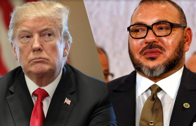 King Mohammed VI and Donald Trump