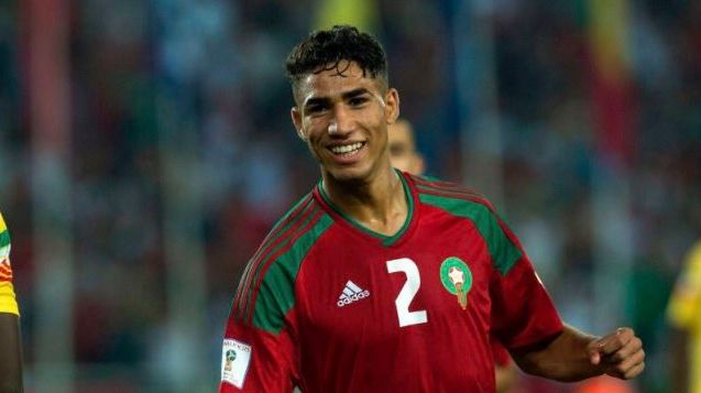 Morocco's Achraf Hakimi Among 2019 CAF Awards Shortlist