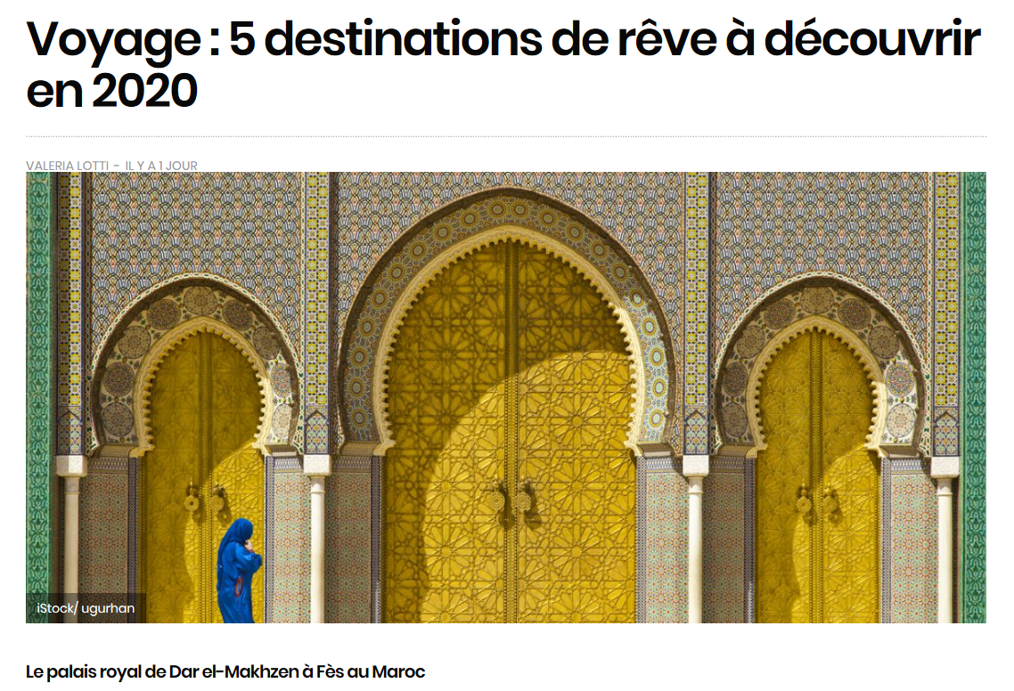 Morocco Among Top 5 Destinations to Discover in 2020
