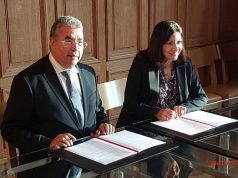 The Mayor of Paris, Anne Hidalgo, and the Mayor of Rabat, Mohamed Sadiki