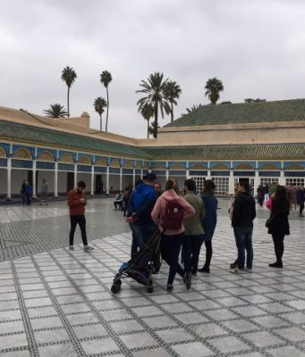 Tourists in Marrakech 2019, Bahia Palace, tourism