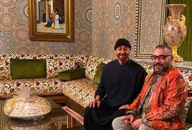 Crown Prince of Abu Dhabi Mohammed bin Zayed and King Mohammed Vi of Morocco