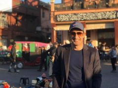 Portuguese Football Legend Luis Figo Enjoys Marrakech's Winter Sunlight