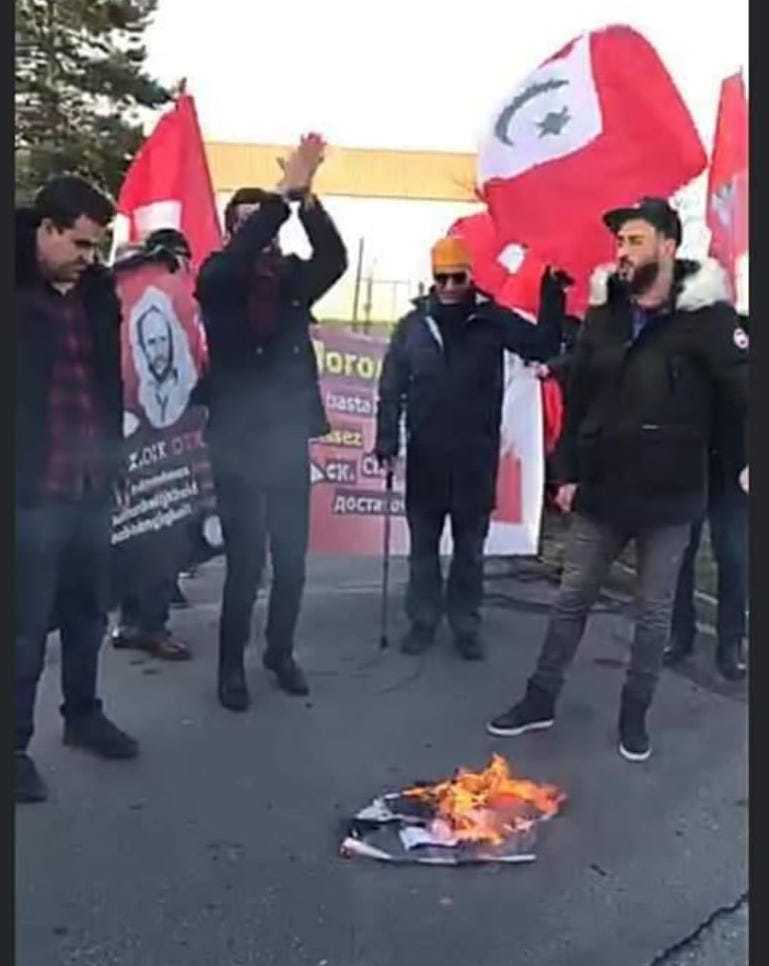 Rif Separatists in France Burn Moroccan Flag, Photos of King