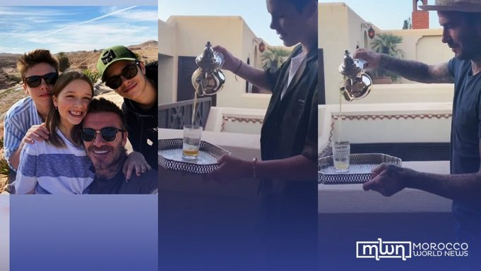 Video David Beckham, Son Cruz Tackle Moroccan Tea
