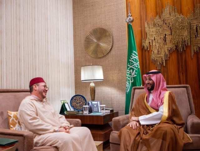 MBS Receives Advisor to King Mohammed VI During Visit of Algeria President