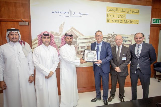 Morocco's Football Chief Visits Aspetar, World-Leading Sports Hospital