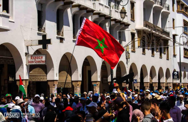 Thousands March in Rabat to Support Palestine, Condemn 'Deal of Century'