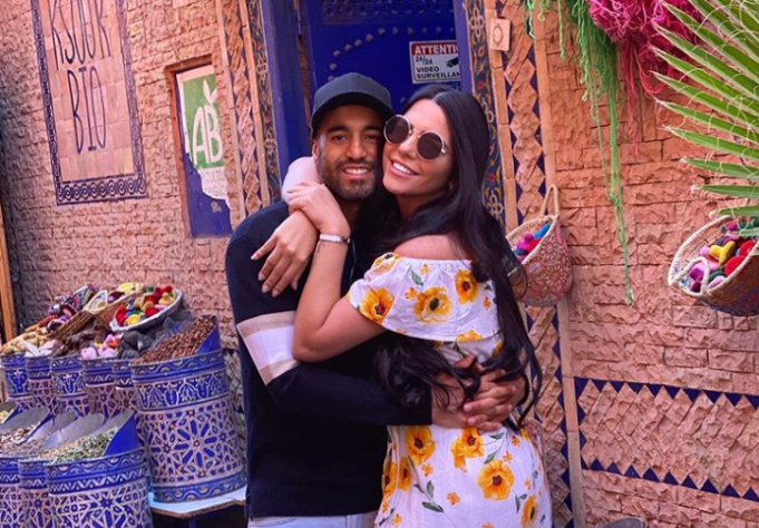 Tottenham Football Star Lucas Moura Enjoys the Sun in Marrakech