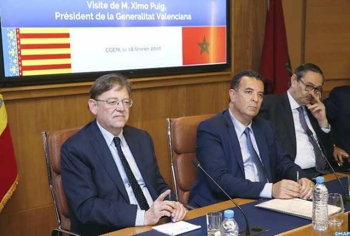 Ximo Puig Valencia trip to Morocco, marruecos, maroc