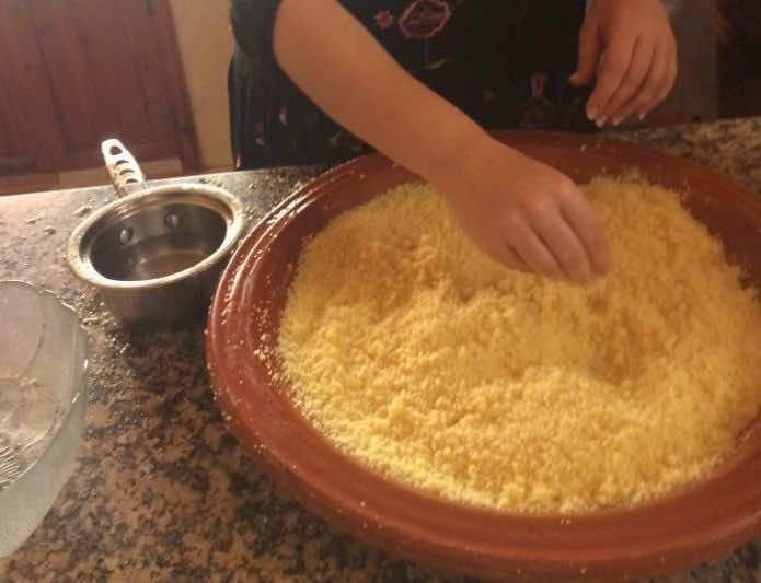 rolling couscous
