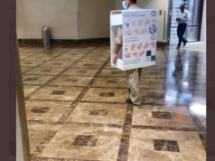 Aramco Faces Backlash for Photos of Worker in Hand Sanitizer Costume