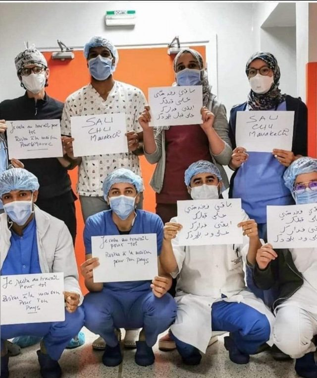 COVID-19 Medical Staff in Marrakech Urge Citizens to Stay Home