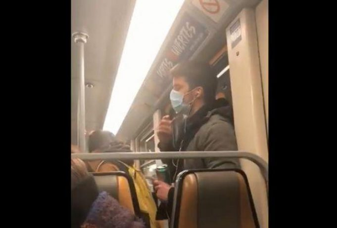 COVID-19; Video of Man Spreading Saliva on Brussels Metro Goes Viral