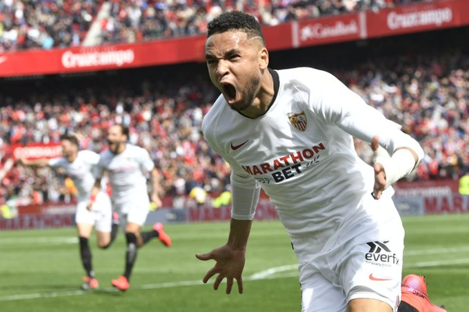 En-nseyri scores his first goal with Sevilla FC