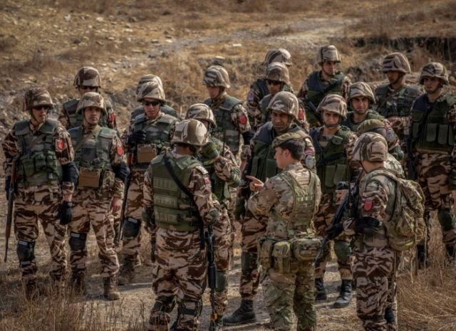 Moroccan paratroopers in Senegal