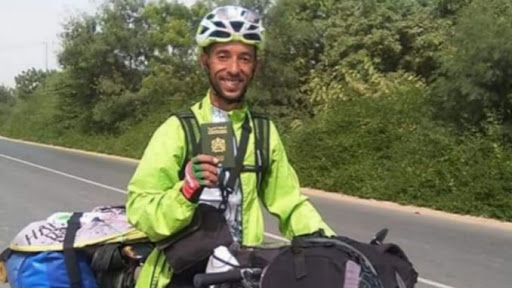Moroccan Cyclist Travels the World With Bike to Promote Peace