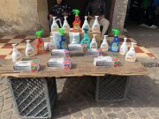 small shop opens to sell soap for covid-19