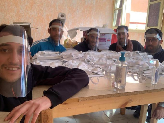 Youth in Central Morocco Make Protective Masks for Local Hospital Staff