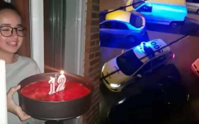 Spanish Neighbors Celebrate Moroccan Birthday Girl from Balconies