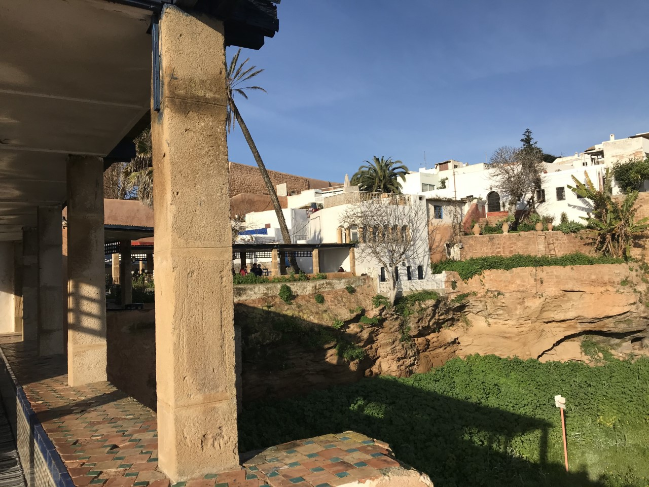 A cafe overlooking the Kasbah of the Udayas