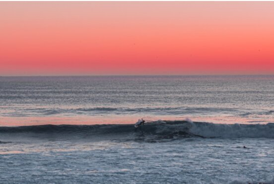 Catching the last waves of the day in La Source