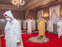 King Mohammed VI Wears Face Mask to Preside Over Laylat Al Qadr Prayers