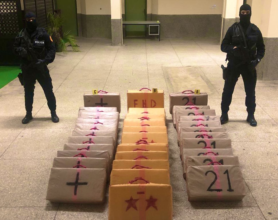 Police Seize 1.5 Tons of Cannabis Resin Near Taza, Northern Morocco