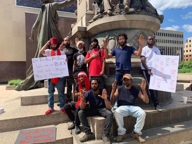 America's Moorish Hold Moroccan Flags in Black Lives Matter Protests