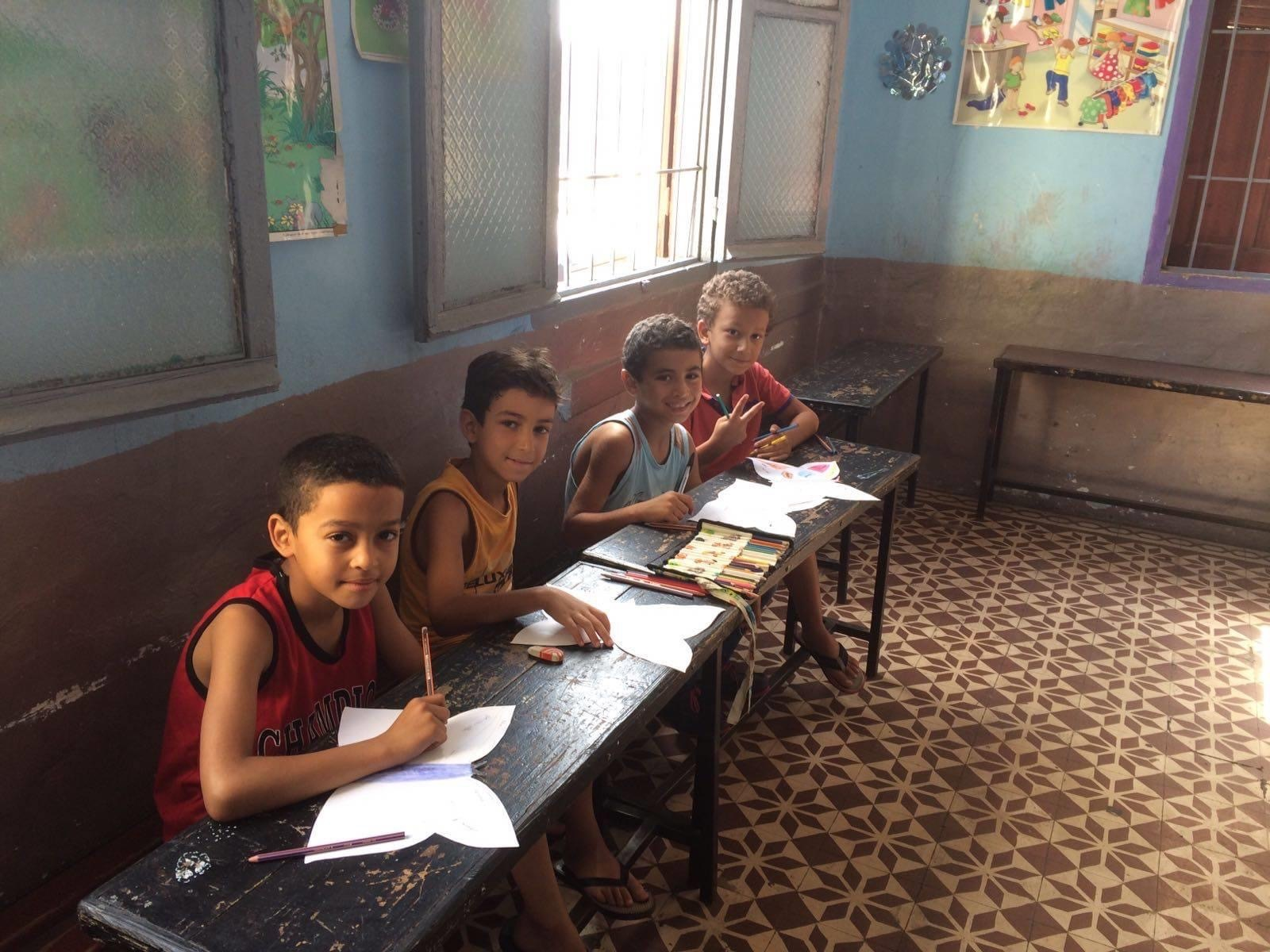 Children from the Derb Sultan neighborhood enjoying extra support classes in the Summer holidays