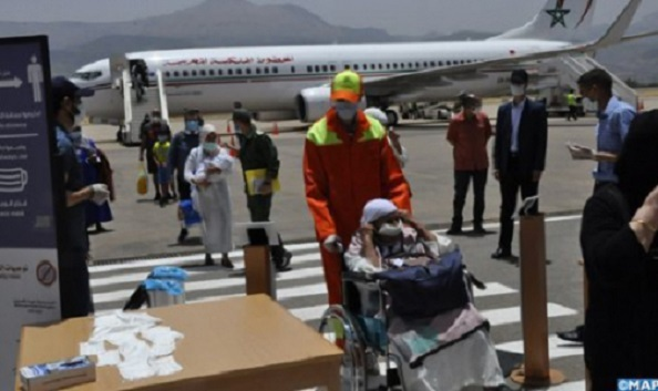 Flight Carrying 160 Moroccans Stranded in Spain Lands in Beni Mellal