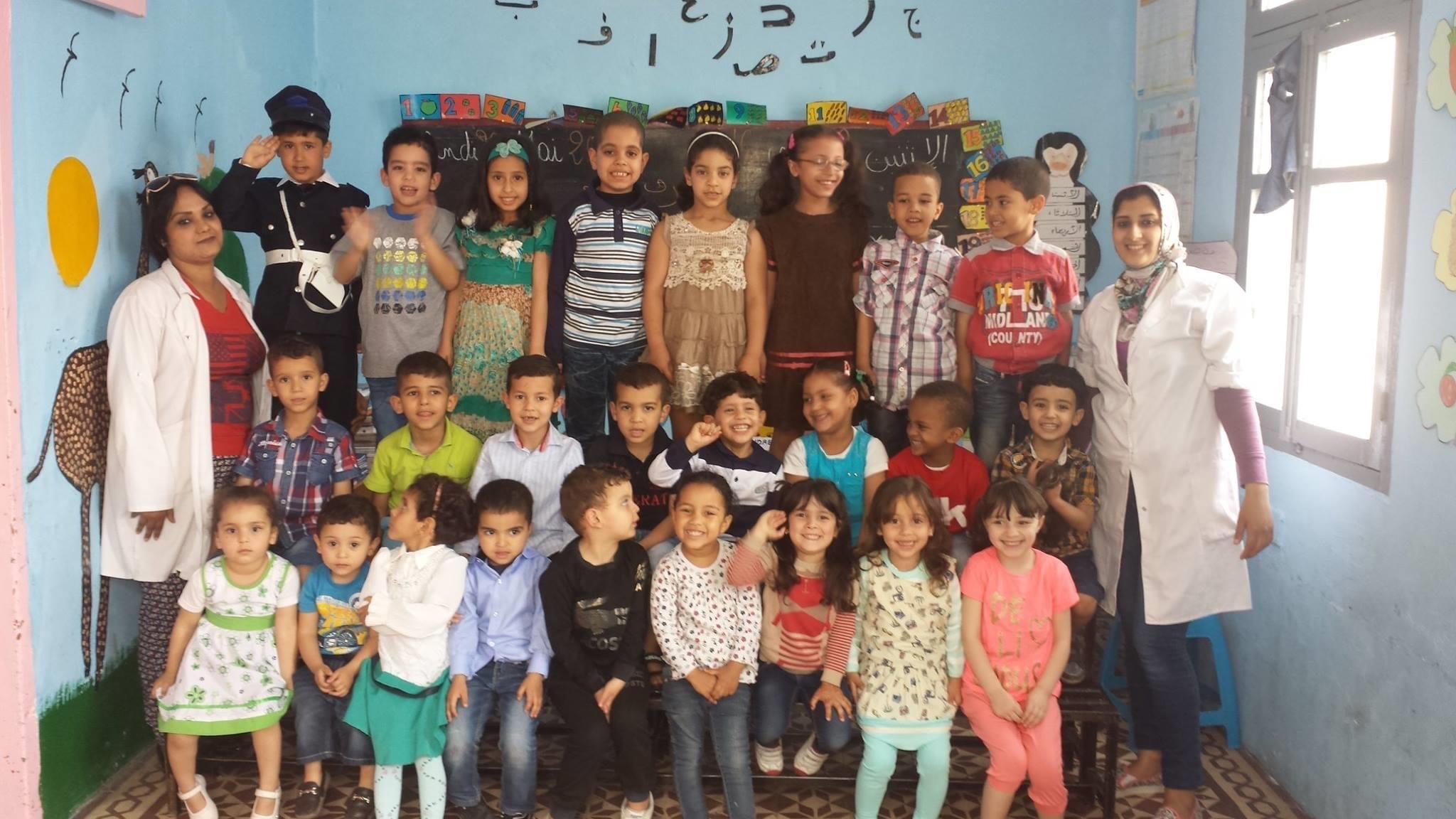 Preschool children at Aliwaa School celebrate the end of the year