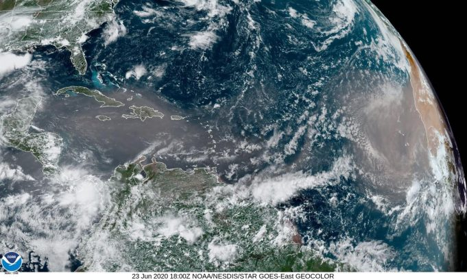 Historic Saharan Dust Cloud Envelops Caribbean, Southern United States