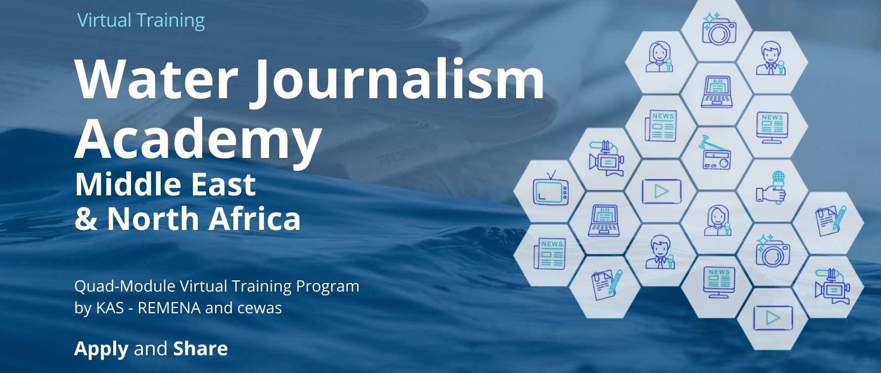 KAS RAMENA to Launch MENA Water Journalism Training