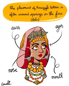 Moroccan Artist Camelia Khadraoui Illustrates Amazigh Tattoo Culture