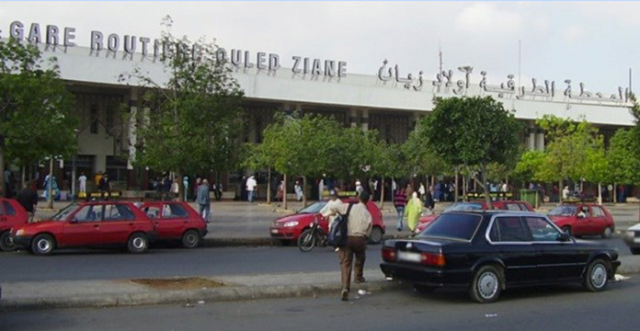 The Oulad Ziane bus station in Casablanca