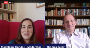 British Ambassador to Morocco Thomas Reilly and MWN Moderator Madeleine Handaji discussed the future of UK-Morocco relations