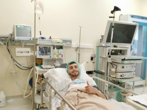 Smail Hammiche being hospitalized