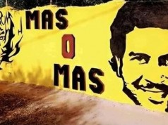 Pablo Escobar street art.