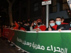 Spain: Moroccans Protest Polisario's Acts in Guerguerat, Valencia