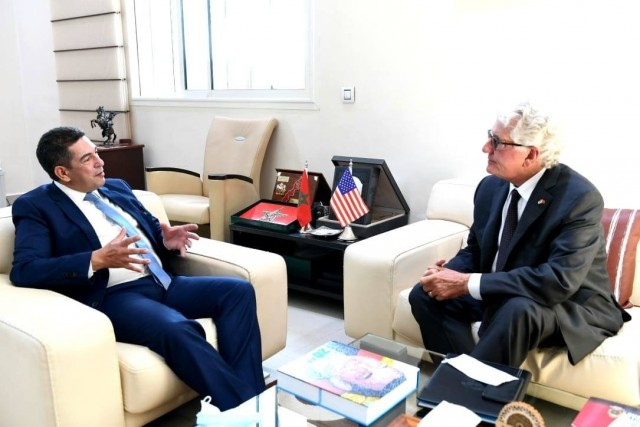 US Ambassador to Morocco Discusses English Teaching With Minister Amzazi