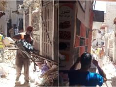 Abandoned Building Collapses in Bustling Merchant Area of Fez Medina