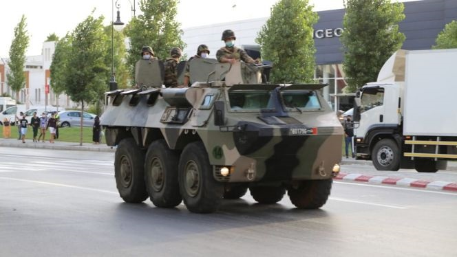 Morocco's Army Deploys Armoured Vehicles in Tangier to Curb COVID-19