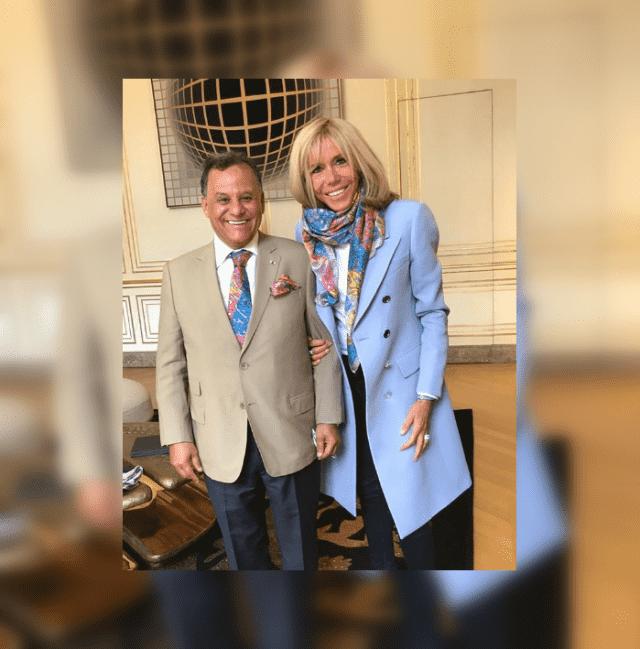 Brigitte Macron Receives Morocco's Mehdi Qotbi at Elysee Palace
