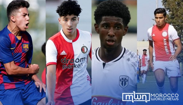 Morocco Eyes 4 Young European-Born Prodigies to Play for Atlas Lions