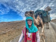 Adventurer Alice Morrison Finds Dinosaur Tracks in Moroccan Expedition