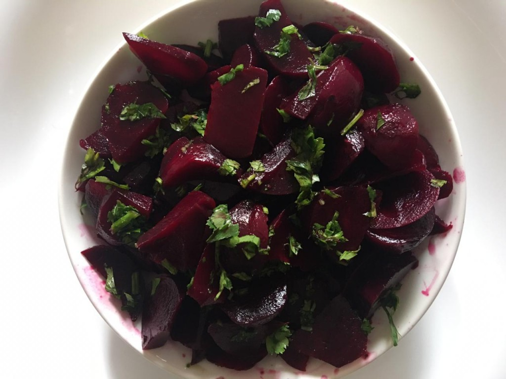 Healthy Moroccan food beets salad. Photo: Jihad Dardar/ Morocco World News