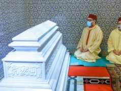 King Mohammed VI, Prince Moulay Rachid Visit Tomb of Late King Hassan II